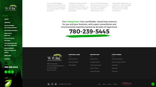 WRRC Eco Green Website Design
