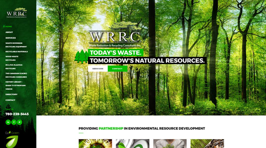 WRRC Eco Green Website Design