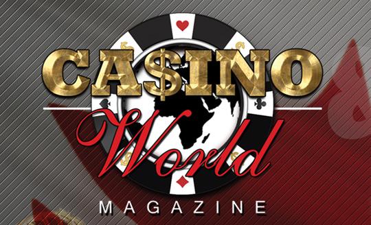 Casino World Magazine Logo Design 540px
