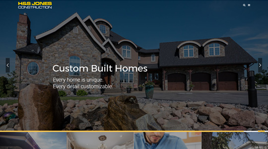 Example of H&S Jones Construction Website Design