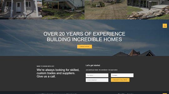 Example of H&S Jones Construction Web Design