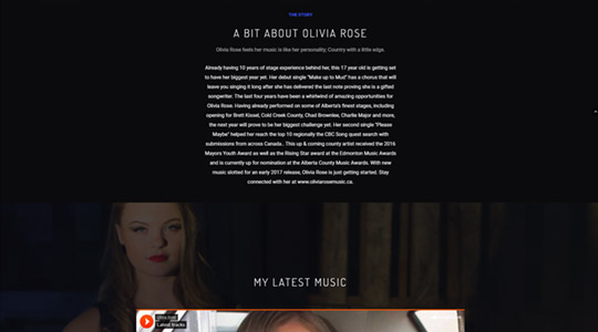 Olivia Rose Band Website