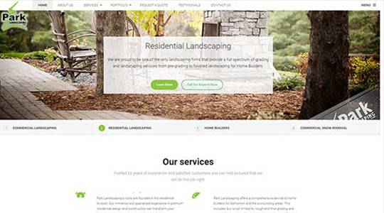Landscaping Website Design in Edmonton