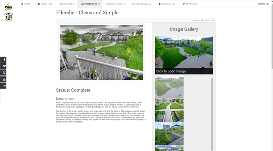 Park Landscaping Edmonton Website Design