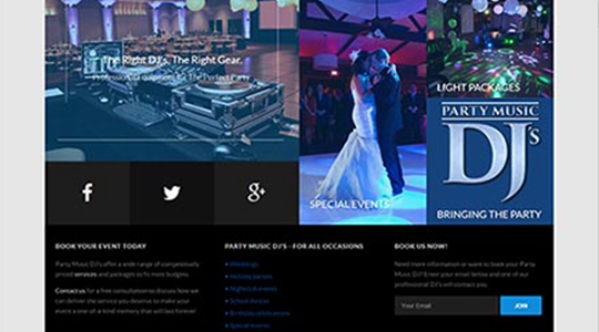 Party Music Dj Website Design Kelowna