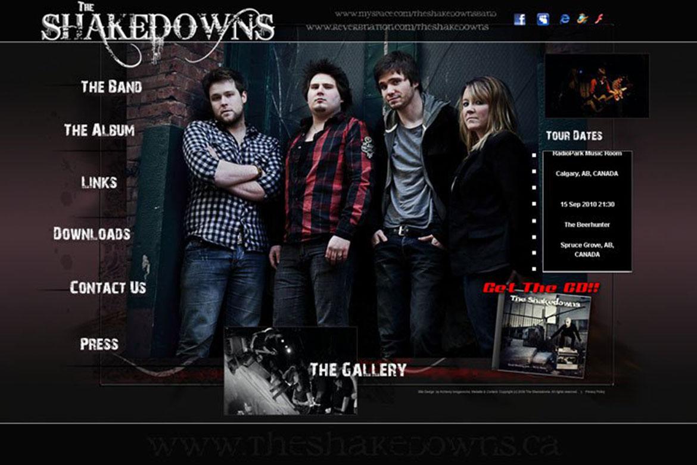 The Shakedowns Band Website