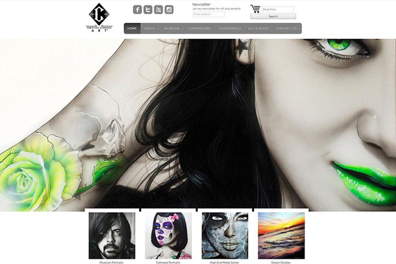 Christian Chapman Art Website