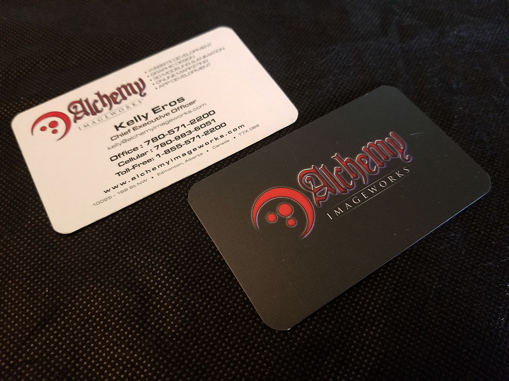 Premium business card printing alchemy imageworks edmonton business card design printing reheart Gallery