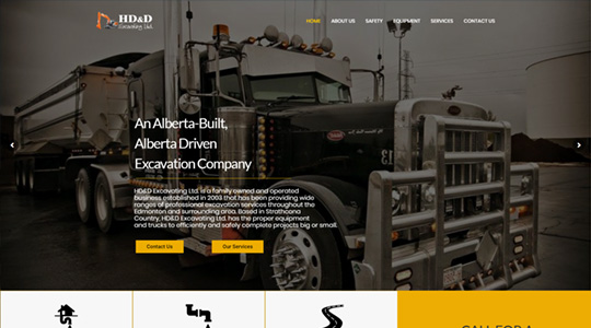 HD&D Excavating Construction Website Design