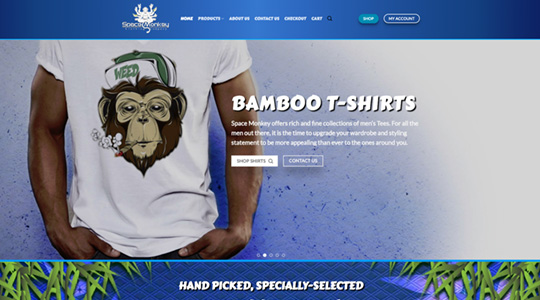 Space Monkey Clothing Company Web Design