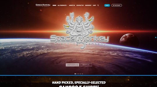 Space Monkey Clothing Company Website Development