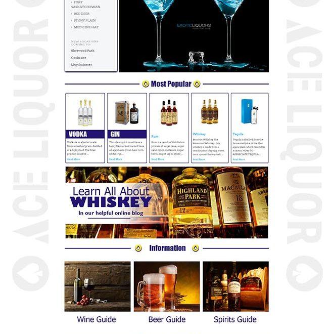 Ace Liquor Responsive Web Design