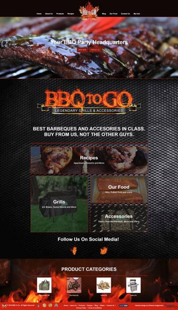 BBQ To Go Website Design