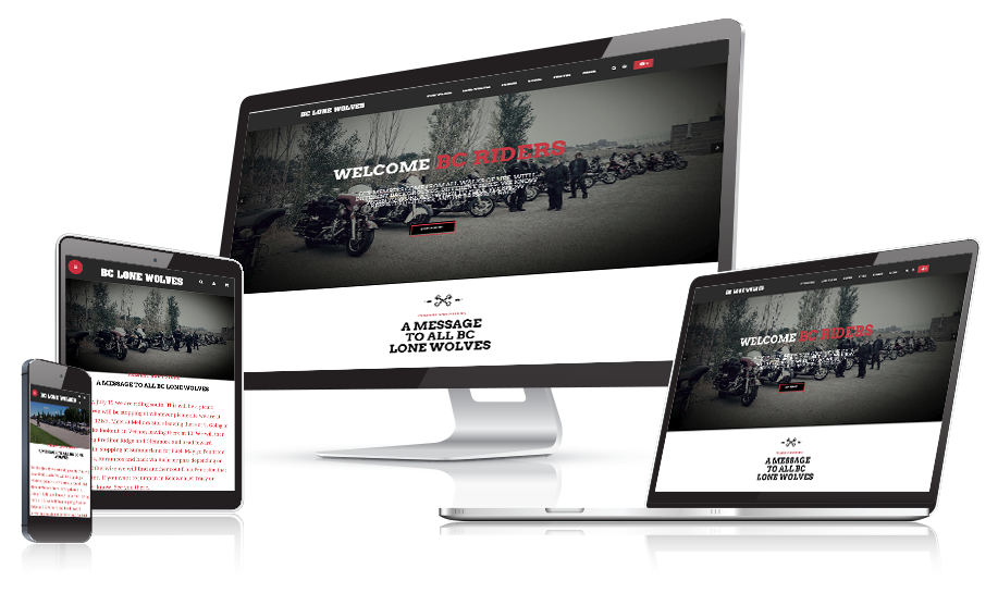 BC Lone Wolves Responsive Web Design