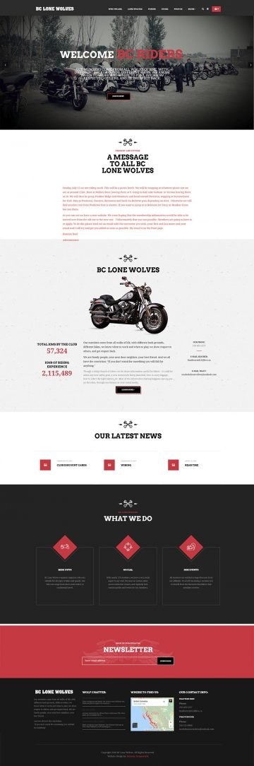 BC Lone Wolves Responsive Website