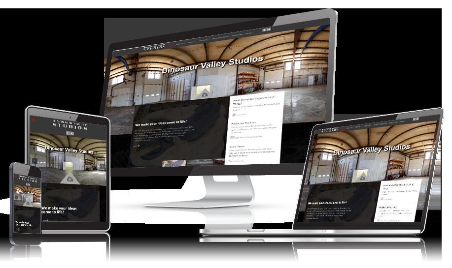 Dinosaur Valley Studios Responsive Web Design
