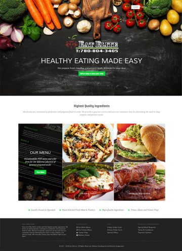 Eat Elite Responsive Web Design