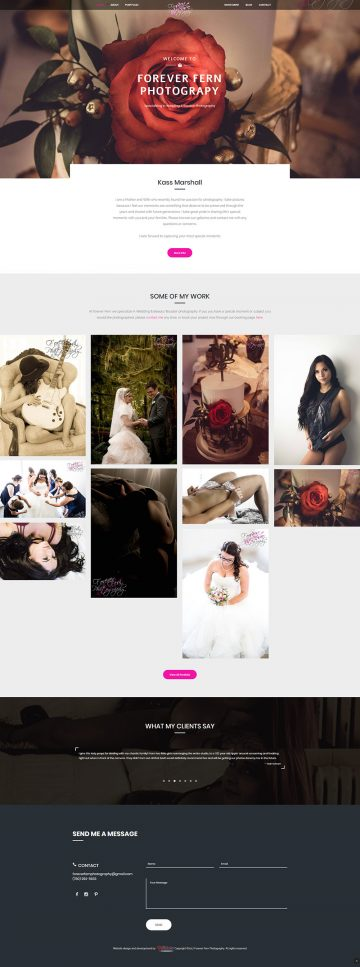 Forever Fern Photography Web Design