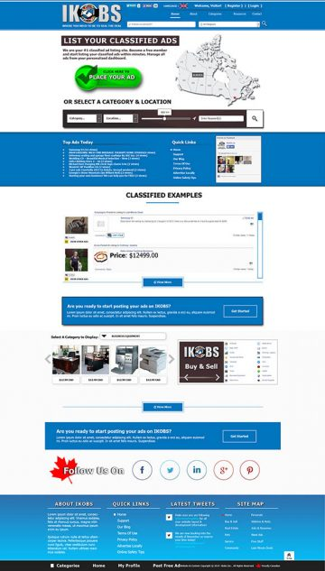 IKOBS Classified Ads Website Design