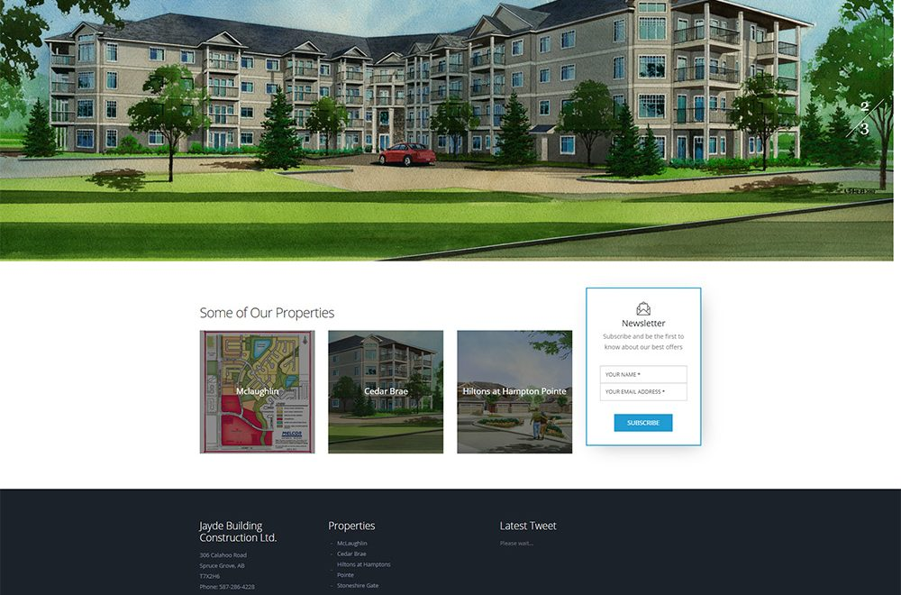 Jayde Building Construction Website Design