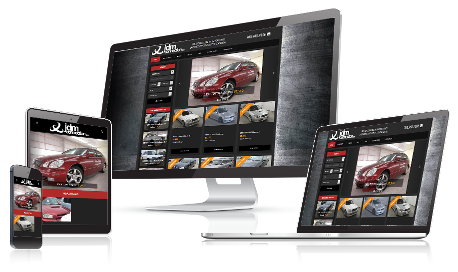 JDM Connection Responsive Website Design