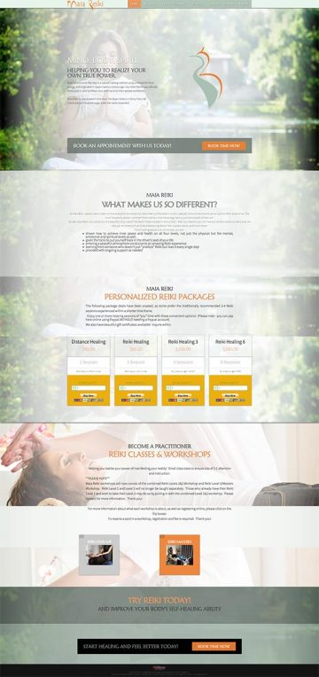 Maia Reiki Website Design
