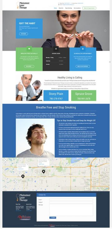 Mainstreet Laser Therapy Web Design