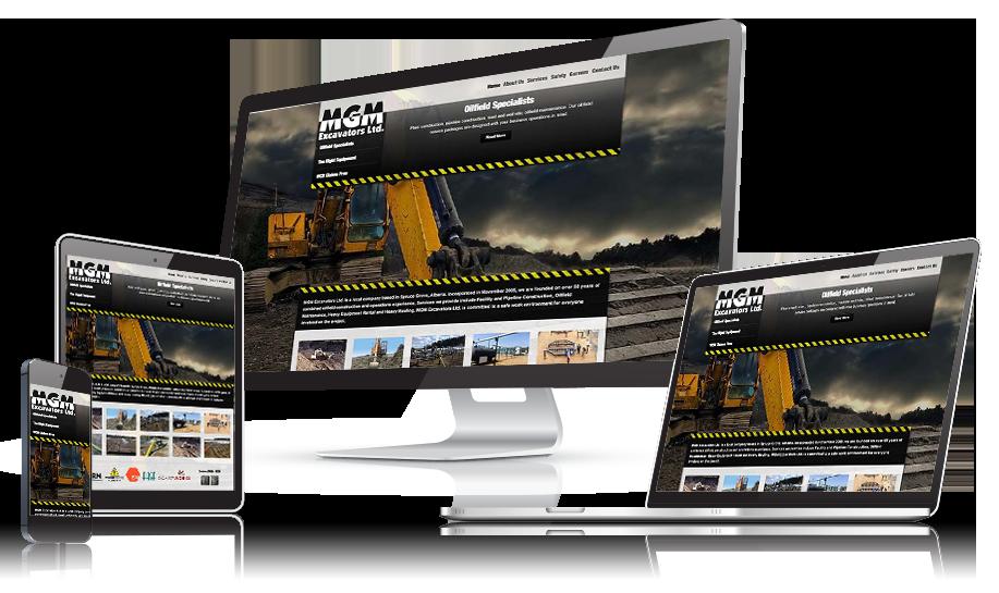 MGM Excavators Responsive Web Design