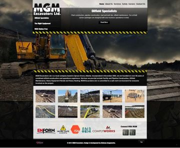MGM Excavators Web Design