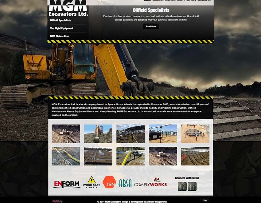 MGM Excavators Web Design
