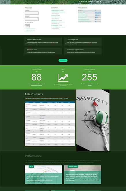 Nigeria Retail Investors Website Design