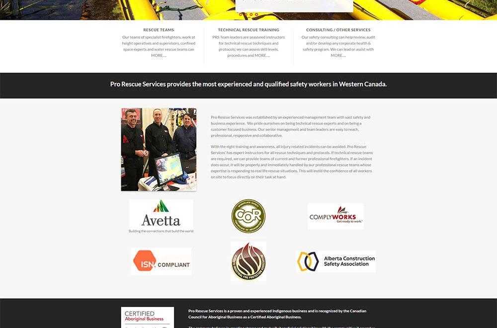 Pro Rescue Services Website Design