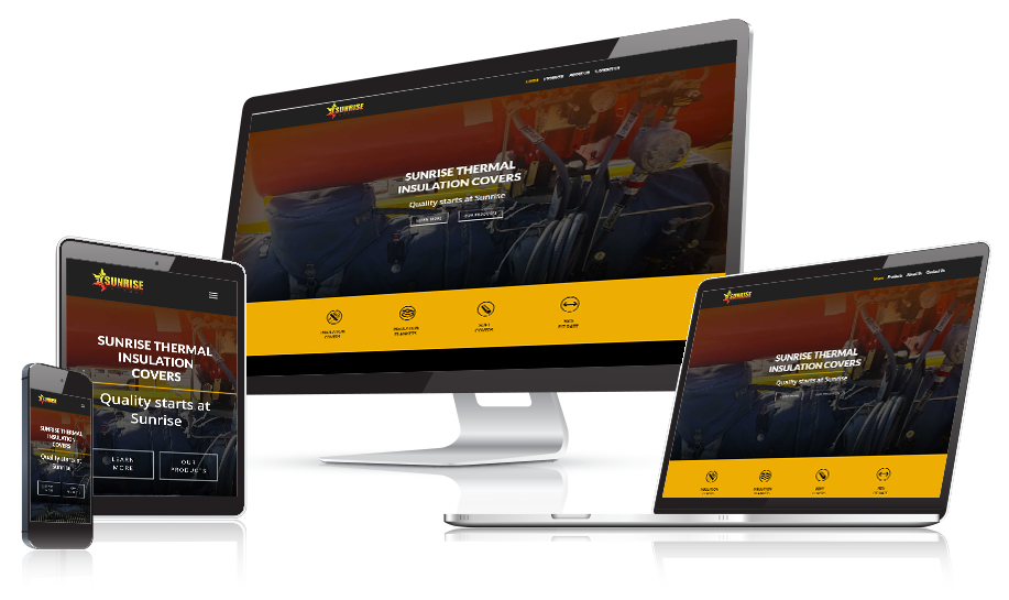 Sunrise Thermal Responsive Web Design