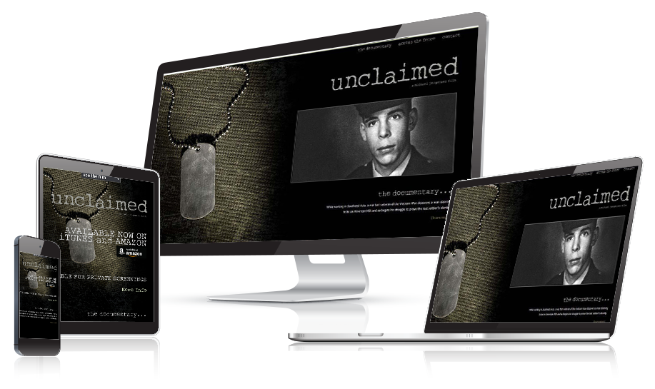 Unclaimed Movie Website Design