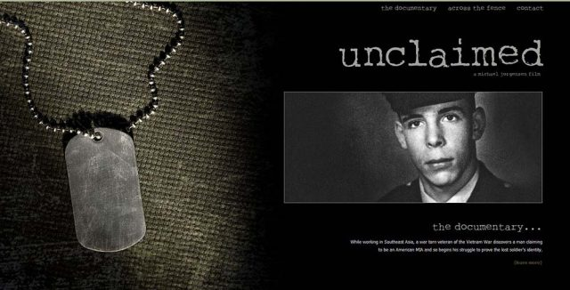 Unclaimed Movie Web Design