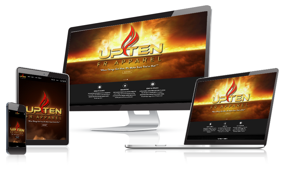 UpTen FR Apparel Responsive Web Design