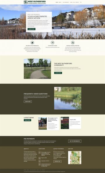 West Rutherford HOA Web Design