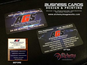 All Generator Solutions Business Card Design