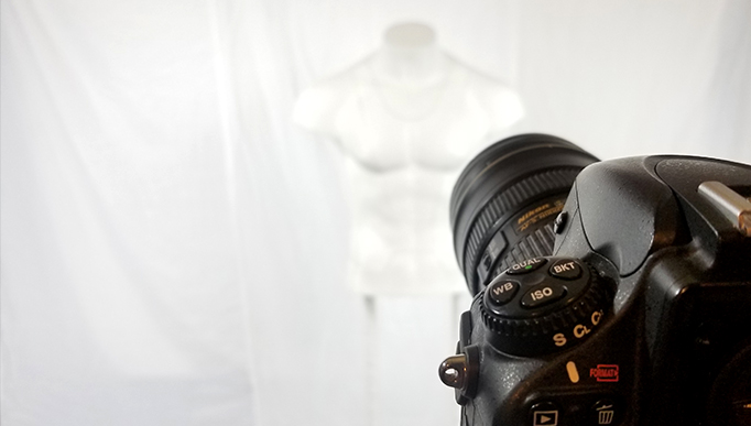 Product Photography Mannequin and Nikon Camera