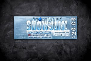 Event Ticket Design - Abominable Snow Jam