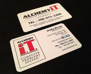 Alchemy I.T. Business Card Design