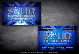Solid Electircal Services Business Card Design