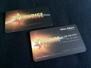 Sunrise Thermal Business Card Design