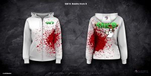 SAK'D Wounded Edition Hoodie Design