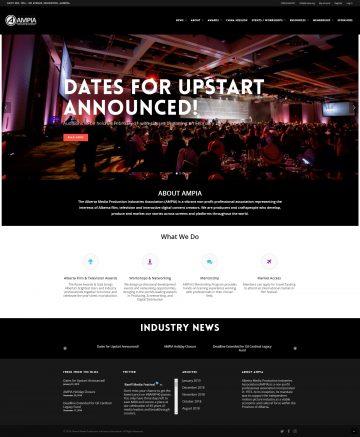 AMPIA - Alberta Media Productions Industries Association Website Design