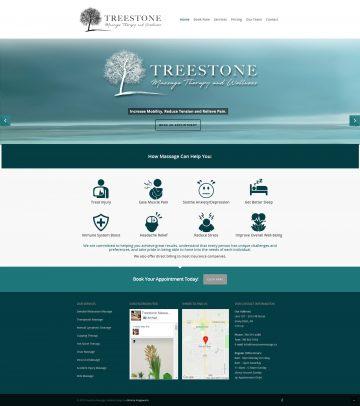 Treestone Massage Therapy & Wellness Website Design