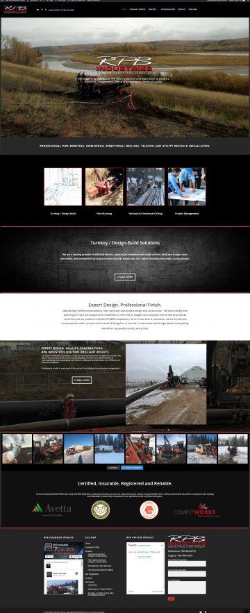 RPB Industries Website Design